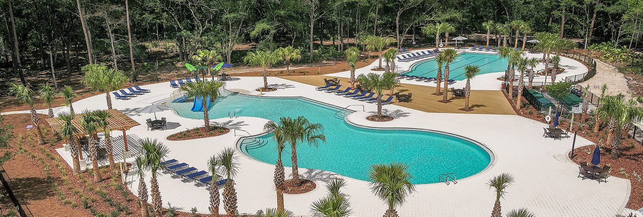 View of the Bexley resort style pools.