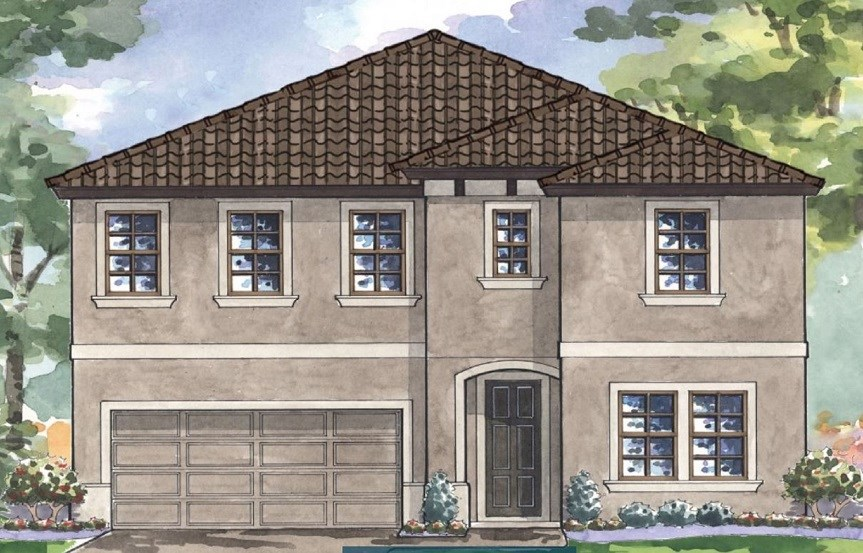 Bexley-Homes by WestBay-Pelican-Mediterranian-Elevation