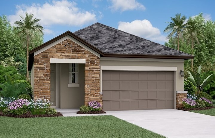 Rendering of Connecticut by Lennar home plan in Bexley Land O Lakes, FL
