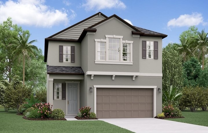 Rendering of Maryland by Lennar home plan in Bexley Land O Lakes, FL