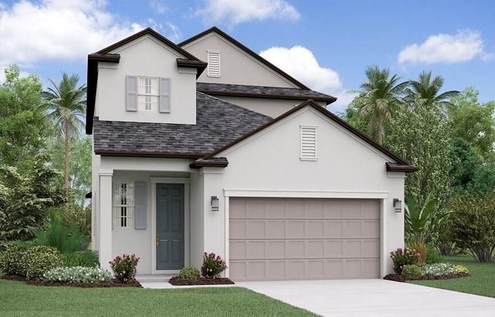Rendering of Massachusetts home plan by Lennar in Bexley Land O Lakes, FL