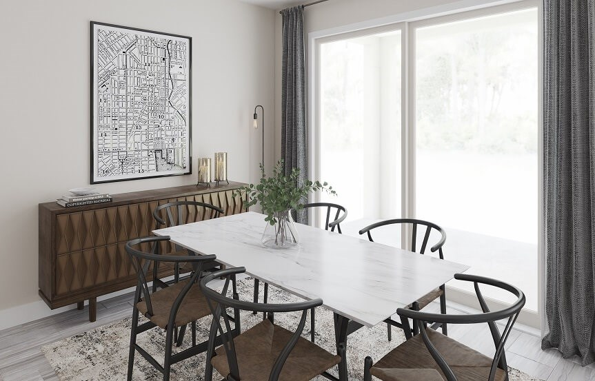 Dining room in New Hampshire home plan by Lennar in Bexley Land O Lakes, FL