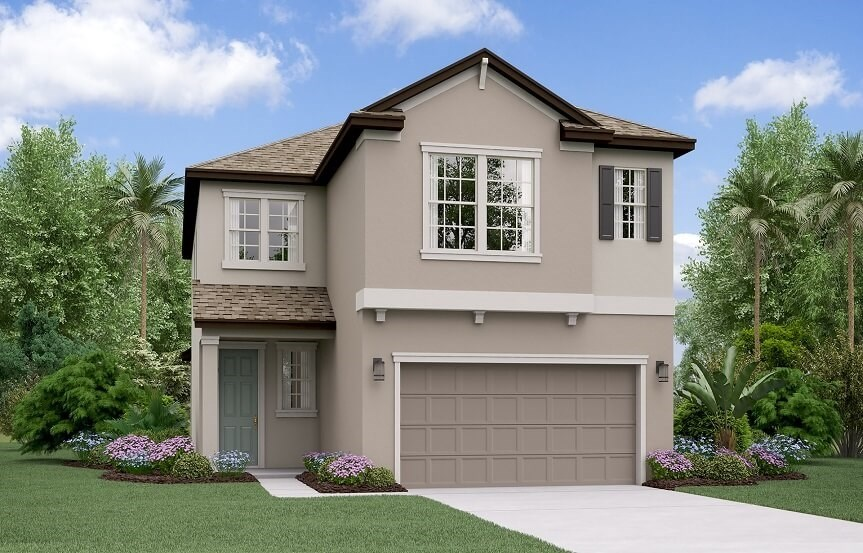 Rendering of New Hampshire home plan by Lennar in Bexley Land O Lakes, FL