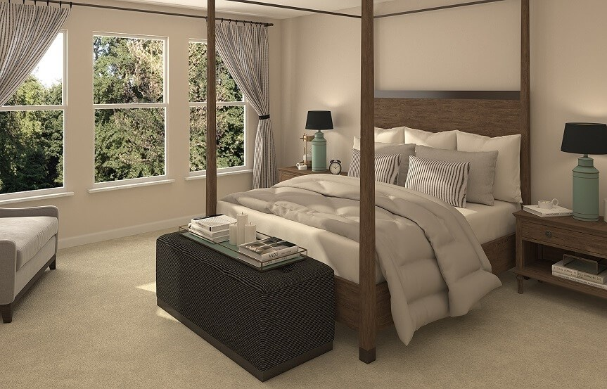 Master bedroom in New Hampshire home plan by Lennar in Bexley Land O Lakes, FL