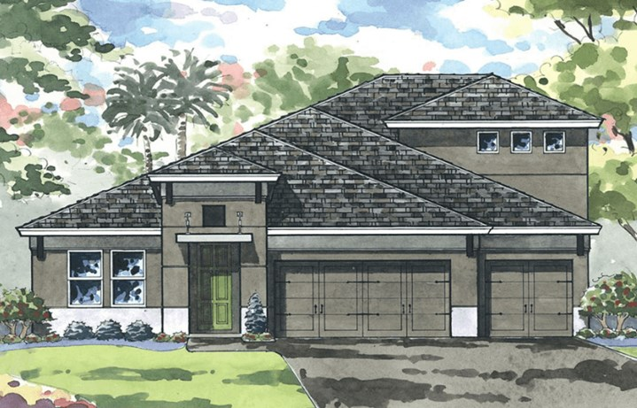 Exterior image of WestBay Swann IV floor plan in Bexley