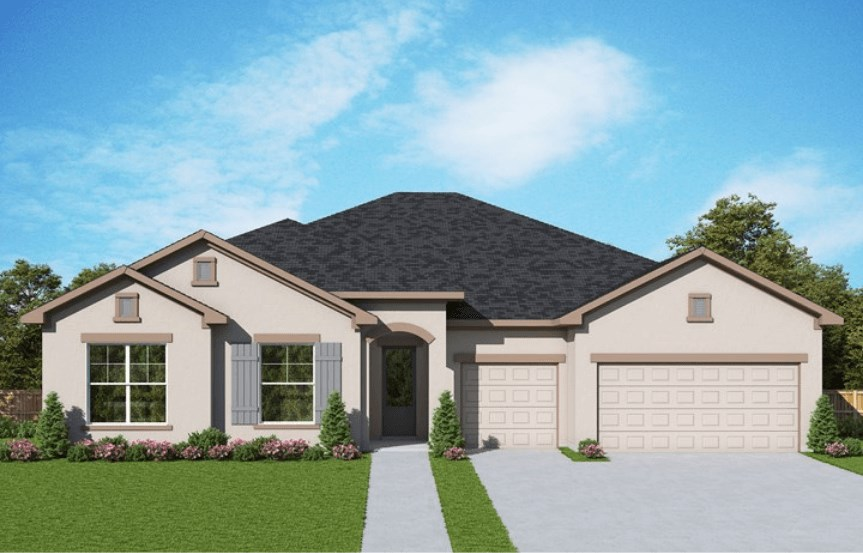 Exterior image of Hollowell floor plan by David Weekley Homes in Bexley