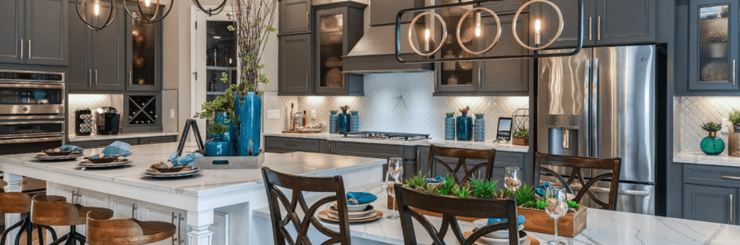 Kitchen in Bayshore II model home by Homes by WestBay in Bexley Land O Lakes, FL